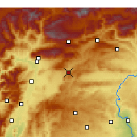 Nearby Forecast Locations - Pazarcık - Mapa