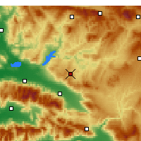 Nearby Forecast Locations - Kula - Mapa