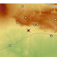 Nearby Forecast Locations - Kızıltepe - Mapa