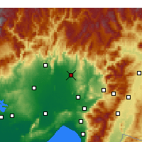 Nearby Forecast Locations - Kadirli - Mapa