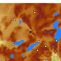 Nearby Forecast Locations - Dinar - Mapa