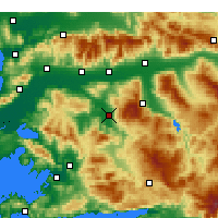 Nearby Forecast Locations - Çine - Mapa