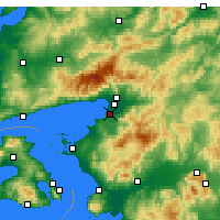 Nearby Forecast Locations - Burhaniye - Mapa
