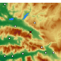 Nearby Forecast Locations - Alaşehir - Mapa