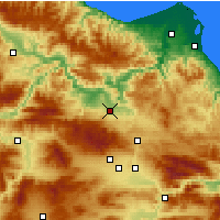 Nearby Forecast Locations - Vezirköprü - Mapa