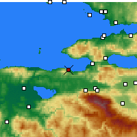 Nearby Forecast Locations - Mudanya - Mapa