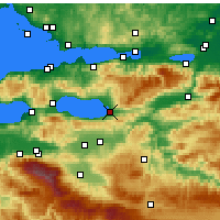 Nearby Forecast Locations - İznik - Mapa