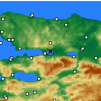 Nearby Forecast Locations - İzmit - Mapa