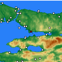 Nearby Forecast Locations - Gebze - Mapa