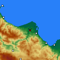Nearby Forecast Locations - Bafra - Mapa