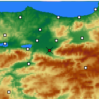 Nearby Forecast Locations - Akyazı - Mapa
