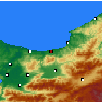 Nearby Forecast Locations - Akçakoca - Mapa