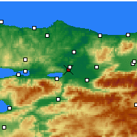 Nearby Forecast Locations - Sakarya - Mapa