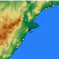Nearby Forecast Locations - San Carlos de la Rápita - Mapa