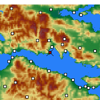 Nearby Forecast Locations - Galaxidi - Mapa