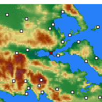 Nearby Forecast Locations - Paralia Rachon - Mapa