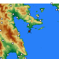 Nearby Forecast Locations - Spetses - Mapa