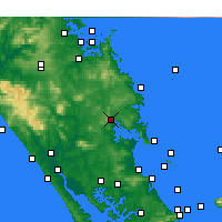 Nearby Forecast Locations - Whangarei - Mapa