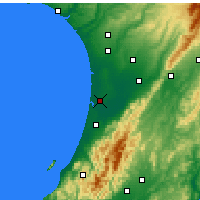 Nearby Forecast Locations - Foxton - Mapa