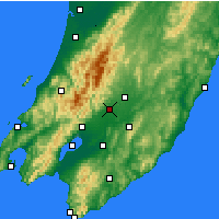 Nearby Forecast Locations - Carterton - Mapa