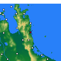 Nearby Forecast Locations - Whangamata - Mapa