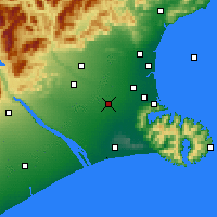 Nearby Forecast Locations - Rolleston - Mapa