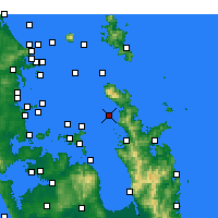 Nearby Forecast Locations - Motukawao Island - Mapa