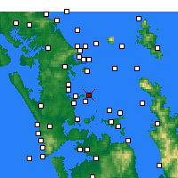 Nearby Forecast Locations - Tiritiri Matangi Island - Mapa