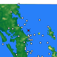 Nearby Forecast Locations - Te Arai Point - Mapa