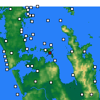 Nearby Forecast Locations - Waiheke Channel - Mapa