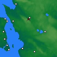 Nearby Forecast Locations - Ljungbyhed - Mapa