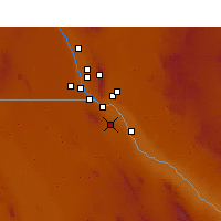 Nearby Forecast Locations - Ciudad Juárez - Mapa