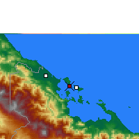 Nearby Forecast Locations - Bocas del Toro - Mapa