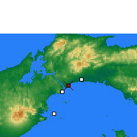 Nearby Forecast Locations - Panamá - Mapa