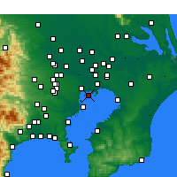 Nearby Forecast Locations - Kōtō - Mapa