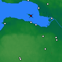 Nearby Forecast Locations - Kronstadt - Mapa