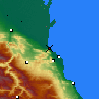 Nearby Forecast Locations - Majachkalá - Mapa