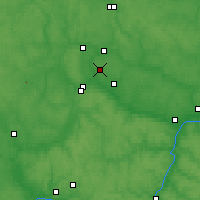 Nearby Forecast Locations - Óbninsk - Mapa