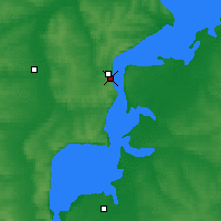 Nearby Forecast Locations - Tetiushi - Mapa