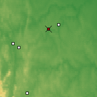 Nearby Forecast Locations - Verkhnyaya Salda - Mapa