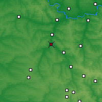 Nearby Forecast Locations - Druzhkivka - Mapa