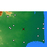 Nearby Forecast Locations - Thanjavur - Mapa