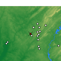 Nearby Forecast Locations - Hueytown - Mapa