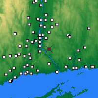 Nearby Forecast Locations - East Hampton - Mapa