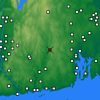Nearby Forecast Locations - Killingly - Mapa