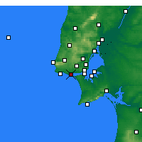 Nearby Forecast Locations - Oeiras - Mapa