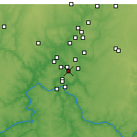 Nearby Forecast Locations - Blue Ash - Mapa