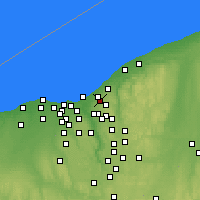 Nearby Forecast Locations - Cleveland Heights - Mapa