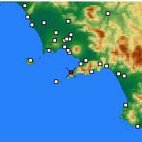 Nearby Forecast Locations - Sorrento - Mapa