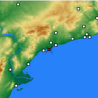 Nearby Forecast Locations - Salou - Mapa